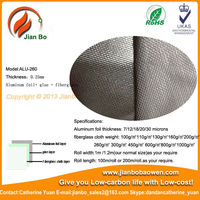 Aluminum foil coated cover fiberglass cloth,fabric insulation material