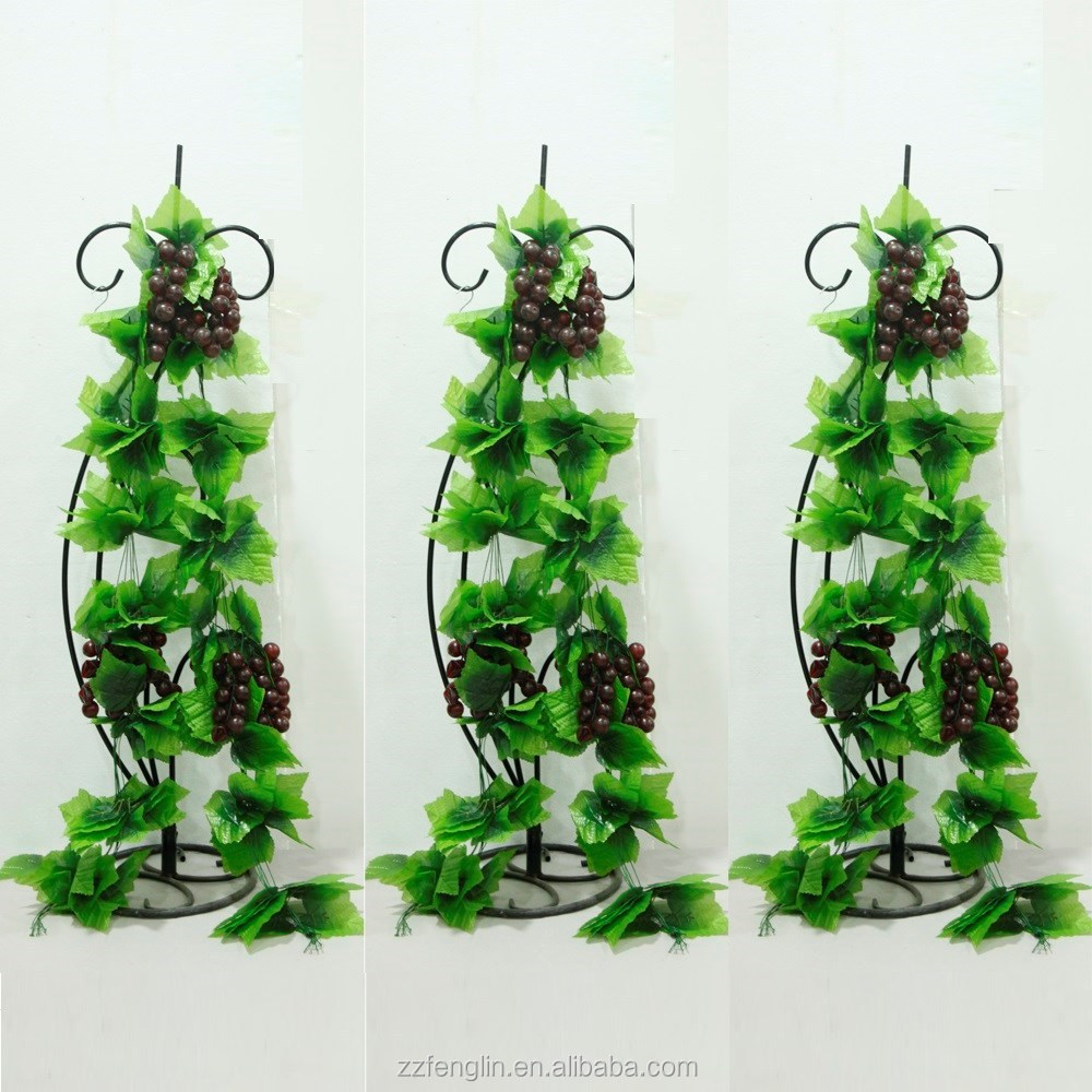 Hot sell artificial purple grape vine artificial vegetable for Artificial grape vines decoration