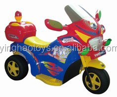 Rechargeable Electric 6V 3-wheel Police motorcycle for children YH-99063