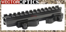 Vector Optics Scope Quick Release Long Double Rail Angle & Riser QD Bracket Mount 20mm Base for .223 5.56 Picatinny Weaver Rail
