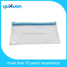 2015 PVC transparent small clear pencil pouch with zipper
