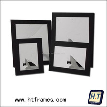 Newest cheap recycled acid free black paper photo frame 4x6 5x7 8x10 a4