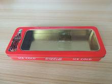 Rectangular Tin Box metal pencil tin case pencil box,szie 215*85*28mm