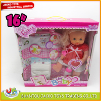 2015 New Products Silicone Vinyl Baby Doll With Drink and Pee Function