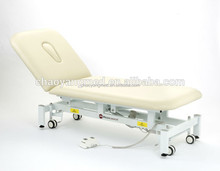 Luxury salon furniture variable height two section spa table massage table CY-C107