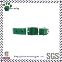 Dark Green Nylon Webbing Dog Collars