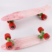 New Design 22'' plastic cruiser skateboard nickel board colour mixture