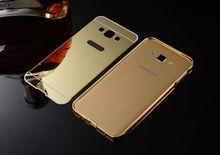 Metal Bumper Case For Samsung Galaxy J5,Ultra Thin Chrome Aluminum Metal Case Cover
