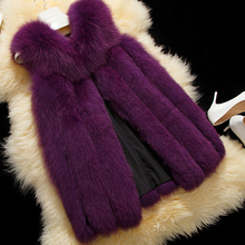 New 2015 fashion design Winter Women Fox Fur Vest High quality European Women Luxurious Fur Coat