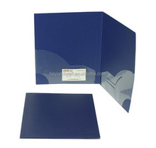 stationery portfolio Letter size poly PP two pocket folder