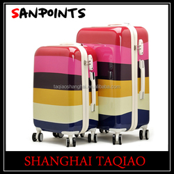 Fashion ABS+PC trolley suitcase /trolley luggage with 4 spinner wheels