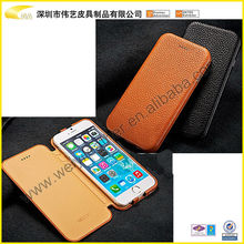 2015 Brown Fashion PU Leather Mobile Phone Shell For Iphone 6 For Iphone 6 Flip Cover Leather Mobile Case For Iphone 6