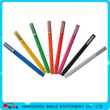 plastic square ball pen with rubber transfer printing