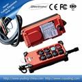 Ca 110v f21-6s radio control remoto inalámbrico de control industrial de doble palanca de mando de control para la grúa