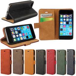 bark design wallet case for iPhone 5 5s, wallet leather cover case for iphone 5 5s