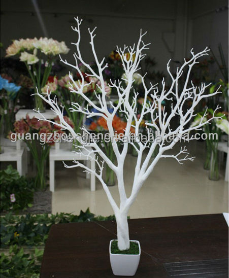 Tree without leaves decoration white trunk dry