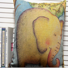 customized animal shape Creative elephant Pattern pillow aduit facroty cartoon movie colourful design logo can be printed 40cm