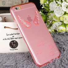 Bling Girl Wing Angel TPU Soft Cover Case For iPhone 5 6 6 Plus