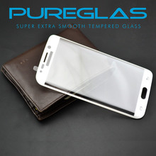 Cell Phone Touch Screen Guard Tempered Glass Protector for Samsyng S6 edge, Full cover edge to edge
