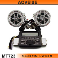 Motorcycle stereo system/Motorcycle alarm system motorcycle sound system MT723[AOVEISE]