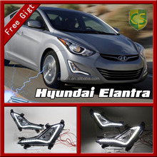 Headlight Hyundai Elantra 2014 Auto Accessories Fog light lamp Hyundai Elantra LED DRL Daytime Running light
