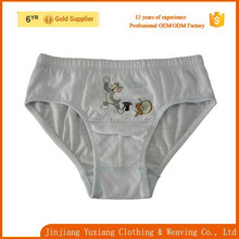 china factory white cartoon printed 100% cotton boys slip brief /free sample cartoon briefs for kids