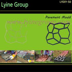 Lyine concrete cement pathway walk pattern paving plastic garden sidewalk asphalt block pavers