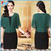 YiHao 2015 New fashion Short sleeve 2pc dress