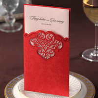 Wholesale high quality fashion custom best sell paper wedding cards