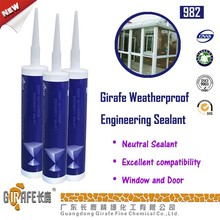 Girafe 982 High Quality Weatherproof Mastic Silicone Sealant