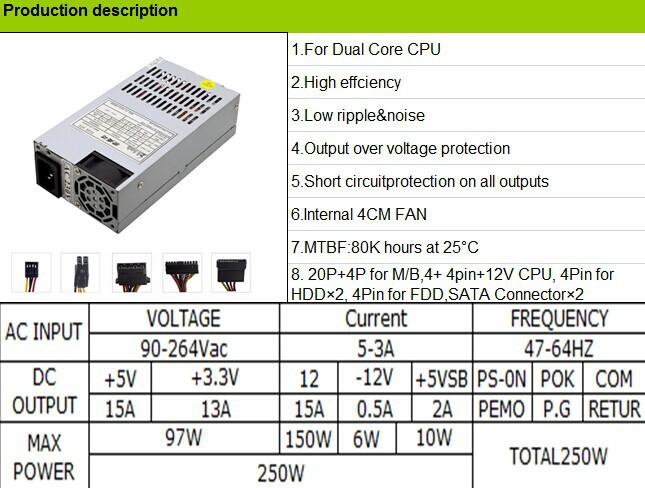 ATX Computer Case Power Supply Mini PC Power Supply 400W, View ATX ...