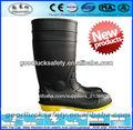 negro de trabajo de seguridad botas de goma con puntera de acero