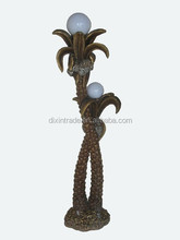 2015 new item coconut shape classical polyresin floor standing lamps