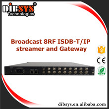 16 channel multiplexer ATSC,ISDB-T Receiver rf to ip gateway and streamer
