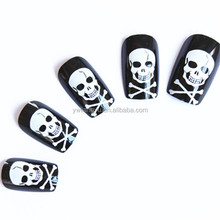 Christmas Series--Halloween Festival Party ABS Printing Gost Fake Nail Tip