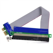 PCI Express Male to 16X Female Riser Card Extender Ribbon Cable