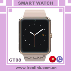 New Smart Watch 1.54 Inch Touch Screen Bluetooth MTK6260A Gsm/gprs 850/900/1800/1900mhz Android Watch Phone GT08 Smart Watch