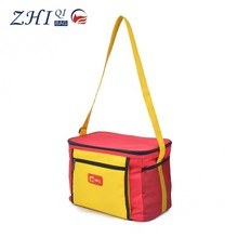 ZQ-D-008 Dongguan 600D factory direct sale BSCI shoulder waterproof insulated cooler bag for food,wine,cans