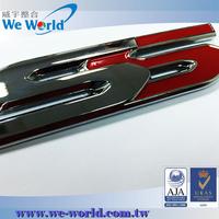Super value logo solution chrome plating metal customized car badge