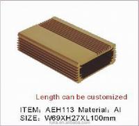 Custom Gold Anodized Aluminum Enclosure Box