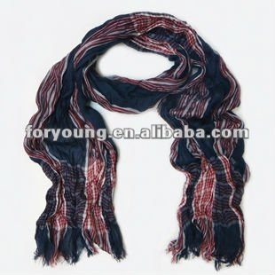 Plisado de poliéster de la tela de la bufanda del nuevo diseño