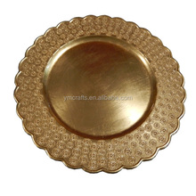 Wholesale underplate new wedding christmas decorate plastic charger plate