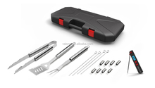 17pcs stainless steel BBQ Case Set