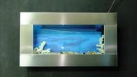 HOT SALE Stainless steel-WALL HANGING AQUARIUMS/WALL FISH TANK/AQUARIUM TANK