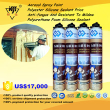 Aerosol Spray Paint/Polyester Silicone Sealant Price/Anti-fungus And Resistant To Mildew Polyurethane Foam Silicone Sealant