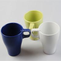 square handle barrel shape ceramic mug /cup white green bule porcelain mug