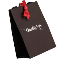 new custom logo printed shopping paper bag with recycled paper