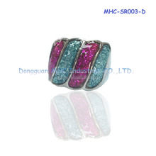 Fashion ring sterling Czech zircon decorating ring exotic style jewelry