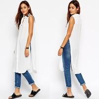 Tops and blouses 2015 latest design chiffon blouse women shirt lady blouse