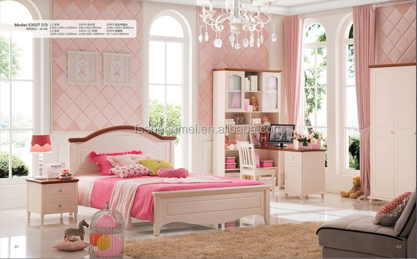 Girls Boys Latest Design Cheap Chinese Bedroom Furniture Childrens ...